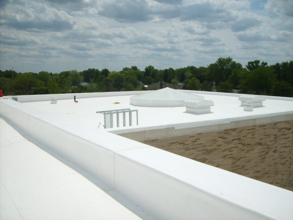 white commercial flat roof